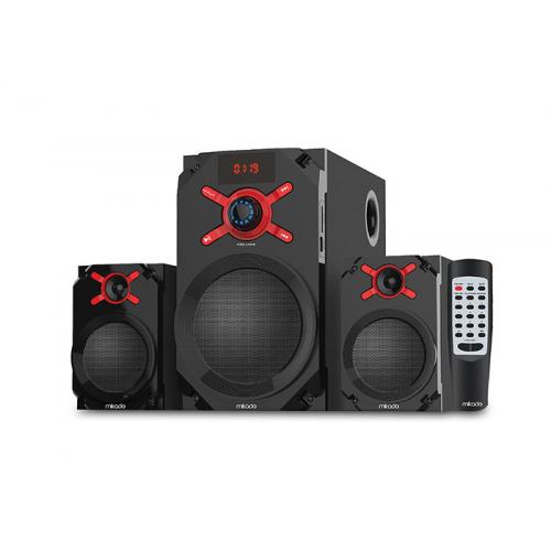 MIKADO MD-1512 20W 2+1 Speaker Ahşap, Uzaktan Kumanda, USB, SD Kart Okuyucu, FM Radyo