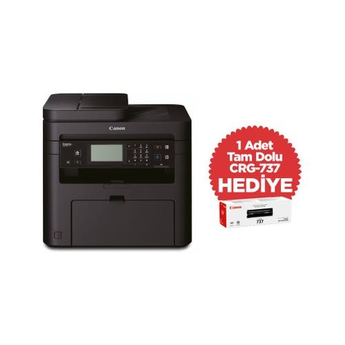 CANON MF237W Lazer Yazıcı, Tarayıcı, Fotokopi, Fax, Wifi, Lan + Orijinal 1 Adet CRG737 Toner Hediye
