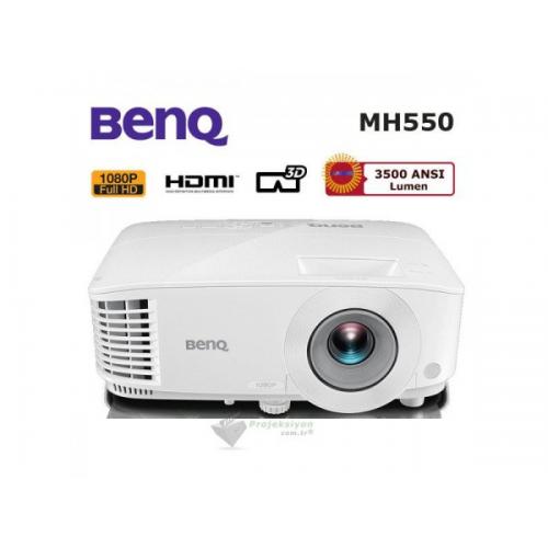 BENQ MH550 3500 ANS 1920X1200 Full HD 2xHDMI VGA 20.000:1 3D DLP Projeksiyon