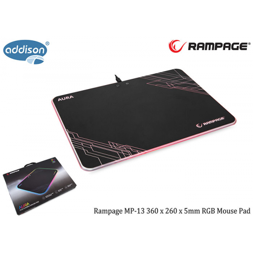 Rampage MP-13 AURA 360x260x5mm Gaming RGB MOUSE PAD