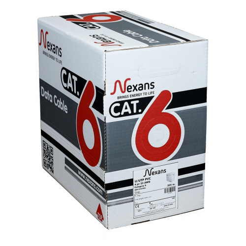 NEXANS CAT6 305M 23AWG (0,58mm) UTP %100 Halogen Free