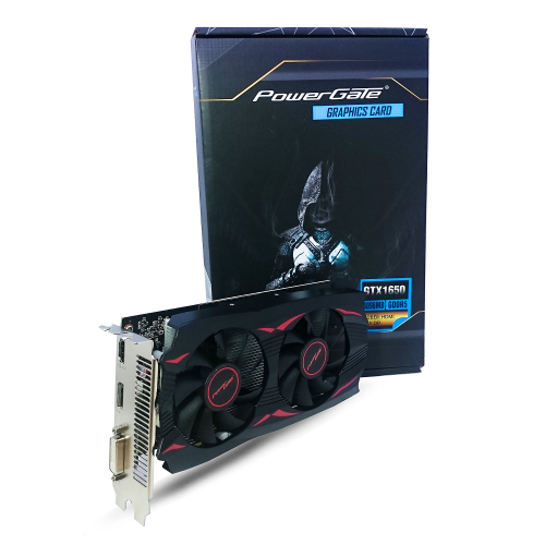 POWERGATE PG-GTX1650-D5-4GB DDR5 HDMI, DVI, DP Dual Fan, Ekran Kartı