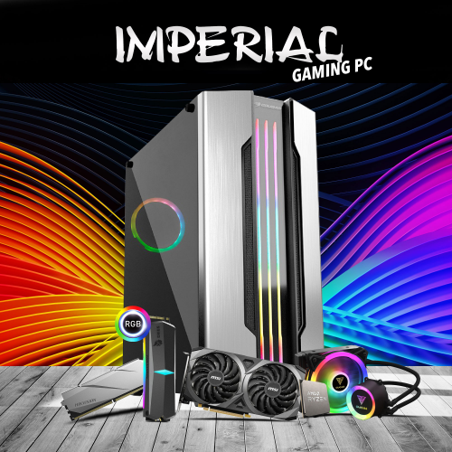 PG IMPERIAL AMD Ryzen 7 3700X, 16Gb Ram, 512Gb SSD, 12Gb DDR6 RXT3060 Ekran Kartı, 600W Kasa, Free Dos GAMING PC
