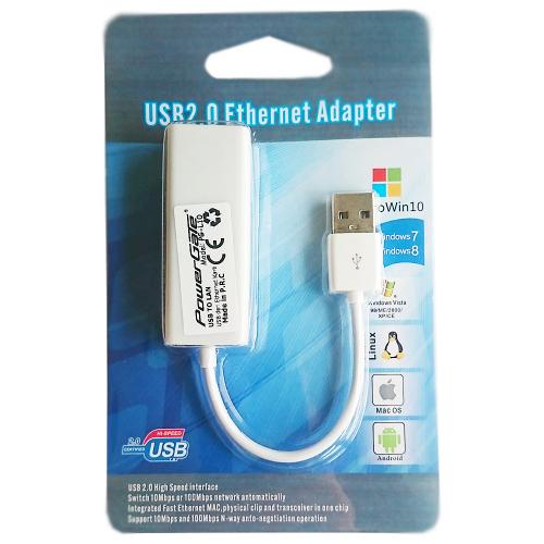 POWERGATE PG-L10 FAST USB 2,0 Ethernet Kartı