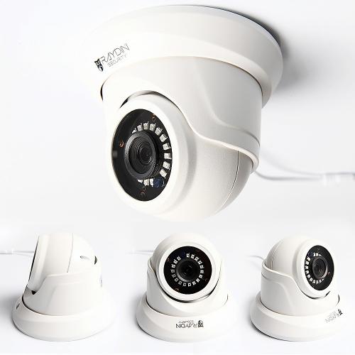 RAYDIN POINT-K20 2Mpix, 3,6mm Lens, H265, 18adet Led, 30Mt Gece Görüşü, SD Kart, PoE, Metal Dome IP Kamera