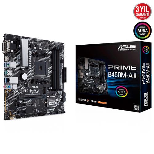 ASUS PRIME B450M-A II DDR4 HDMI DVI D-SUB USB3,2 AM4