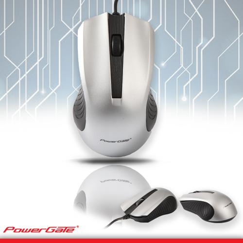 PowerGate R505G USB Kablolu MOUSE (Gri-Siyah)