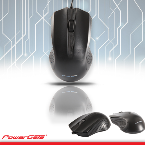 PowerGate R505S USB Kablolu MOUSE (Siyah)