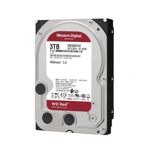 """WD RED WD30EFAX 3,5"""" 3TB, 256mb, 5400 Rpm, 7/24-NAS-SERVER HDD"""