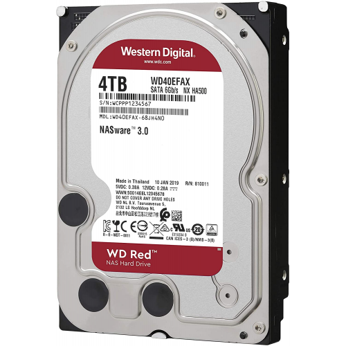 """WD RED WD40EFAX 3,5"""" 4TB, 256mb, 5400 Rpm, 7/24-NAS-SERVER HDD"""