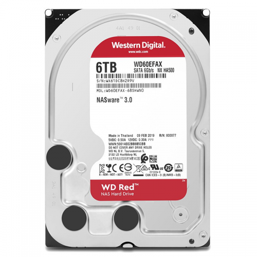 """WD RED WD60EFAX 3,5"""" 6TB, 256mb, 5400 Rpm, 7/24-NAS-SERVER HDD"""