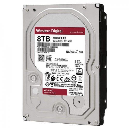 """WD RED WD80EFAX 3,5"""" 8TB, 256mb, 5400 Rpm, 7/24-NAS-SERVER HDD"""