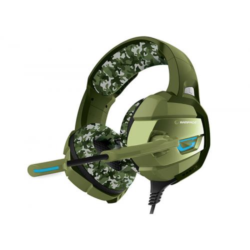 RAMPAGE RM-K5 CAMUFLAJE Gaming Mik+Kulaklık USB 7+1, Kamuflaj Renkli