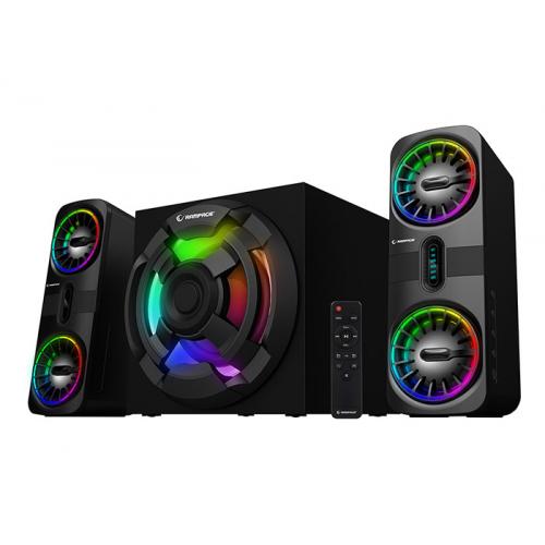 RAMPAGE RMS-311 SHARD 90W 2+1 RGB Speaker Ahşap, Uzaktan Kumanda, USB Okuyucu, FM Radyo, Bluetooth