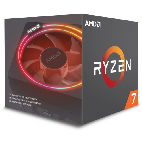 AMD RYZEN 7 2700X 8 Core, 3,70-4.30GHz 105W, RGB LED Wraith Prizma FAN, AM4, (Kutulu)