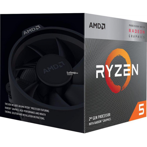 AMD RYZEN 5 3400G 4 Core, 3,70-4.20GHz 65W Radeon RX VEGA11 Wraith Spire FAN AM4 BOX