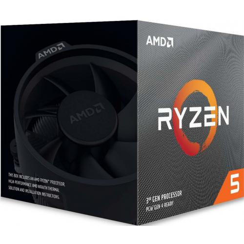 AMD RYZEN 5 3600 6 Core, 3,60-4.20GHz 35Mb Cache, 65W, Wraith Stealth FAN, AM4, (Kutulu)