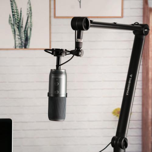 THRONMAX S3 ZOOM STAND Siyah 360° Ayarlanabilir Kablo Klipsli Mikrofon Standı