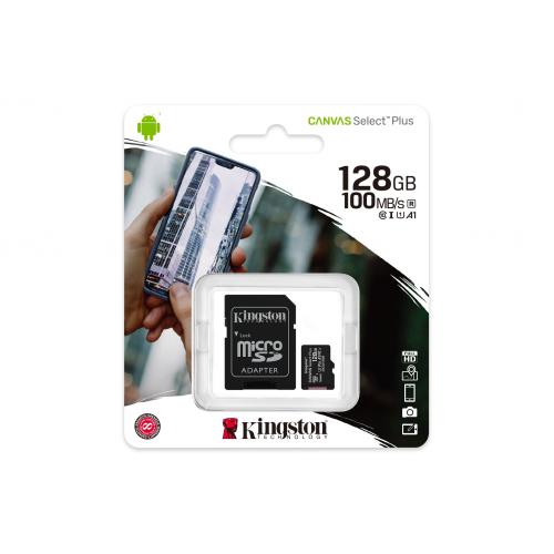 KINGSTON SDCS2/128GB CL10 100Mb/s MicroSD (SD Adaptörlü)