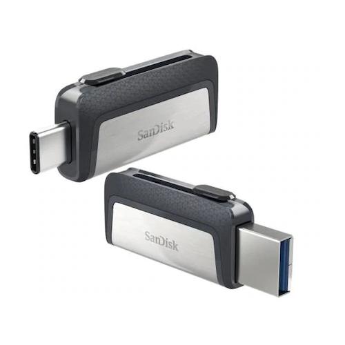 SANDISK SDDDC2-128G-G46 128Gb Flash Disk Dual Drive USB3,1 ve Type-C