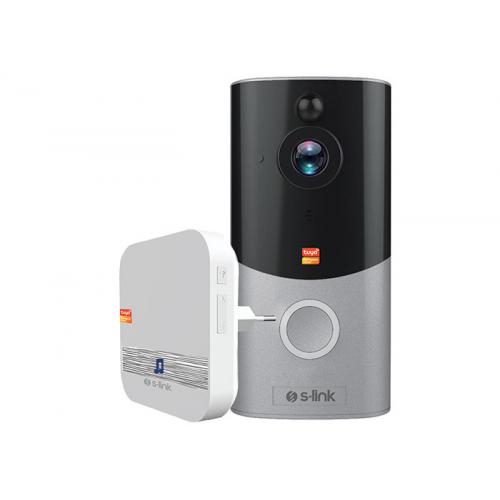S-LINK SL-EG22 Kablosuz WiFi, HD Kameralı, İki Taraflı Ses, Pır Hareket Algılama, Gece Modu, Canlı Yayın imkanı, Akıllı Kapı Zili