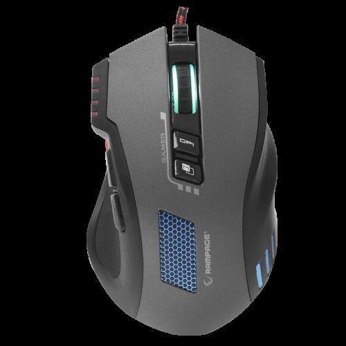 RAMPAGE SMX-R80 Gaming Mouse RGB, MACRO, 320DPI, USB