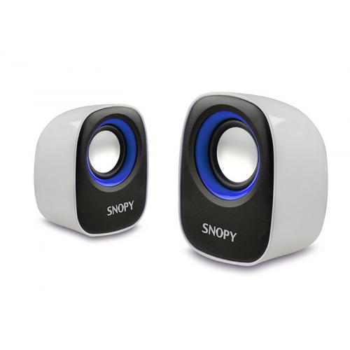 SNOPY SN-120 1+1 Masa Üstü USB SPEAKER(Beyaz-Mavi)