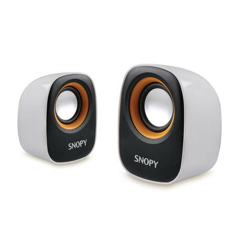 SNOPY SN-120 1+1 Masa Üstü USB SPEAKER(Beyaz-Sarı)