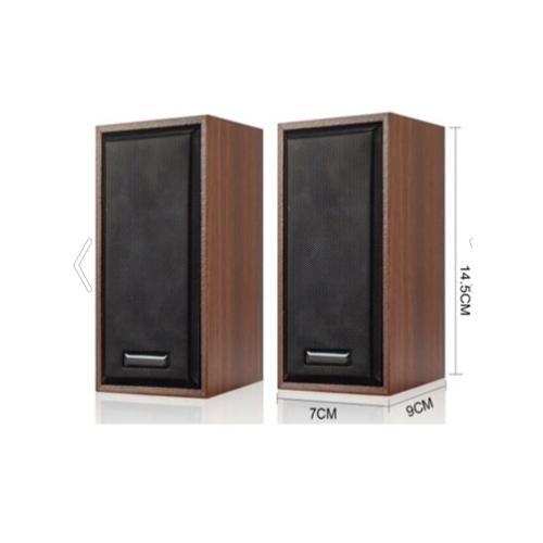 SNOPY SN-385 1+1 Masa Üstü, USB SPEAKER, 6W, AHŞAP Kabin (Kahverengi)