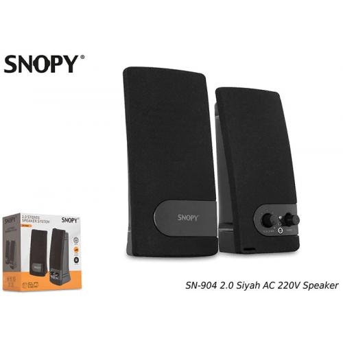 SNOPY SN-904 1+1 Masa Üstü SPEAKER AC 220V (Siyah)