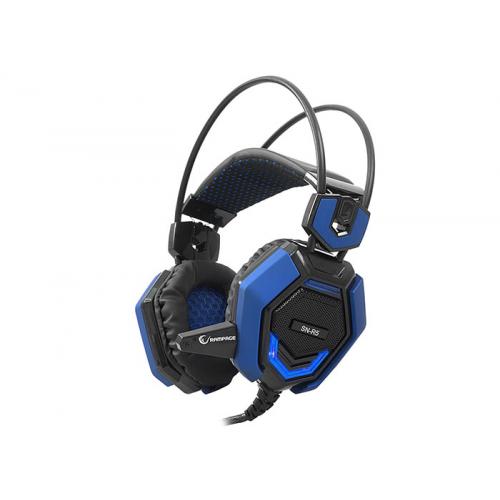 RAMPAGE SN-R5 X-CORE Gaming Kulaklık 3,5mm Jac, Microfon, Led Aydınlatma, Mavi