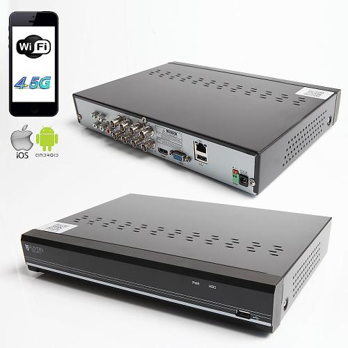 RAYDIN SONIC-K08 2Mpix, H264, 8Kanal Video, 4Kanal Ses, 1 HDD, 1080N, 3G Wifi, RaydinView 5in1 DVR
