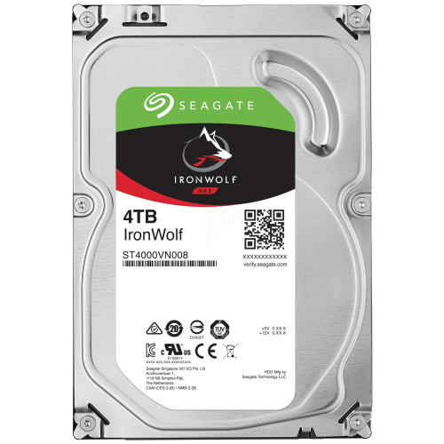 "SEAGATE IRONWOLF 3,5"" 4TB 64Mb ST4000VN008, 5900Rpm, SERVER/NAS HDD"