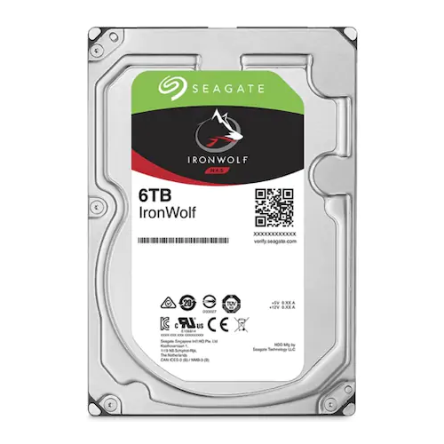 "SEAGATE IRONWOLF 3,5"" 6TB 256Mb ST6000VN001, 5400Rpm, SERVER/NAS HDD"