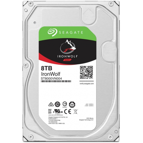 "SEAGATE IRONWOLF 3,5"" 8TB 256Mb ST8000VN004, 7200Rpm, SERVER/NAS HDD"