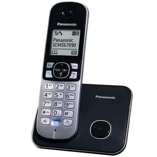 PANASONIC KX-TG6811 TELSİZ TELEFON (Siyah) 18 Saat Konuşma, 170 Saat Bekleme, 120 Kişilik Rehber