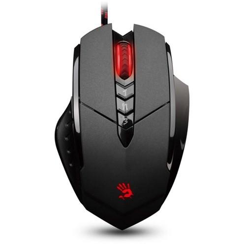 Bloody V7MA Siyah UC3-4 Aktif Optik Metal Ayak 3200CPI Usb Gamer Mouse