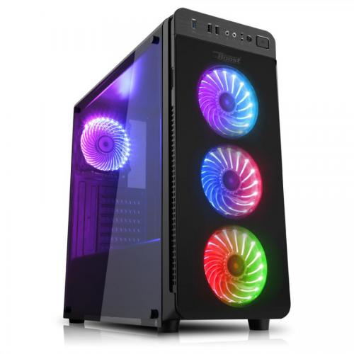 POWERBOOST VK-G1030 UNIQUE RGB GAMING KASA (PSU YOK)