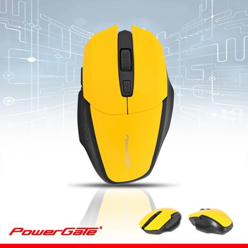 PowerGate D440S Kablosuz Nano 2.4Ghz WiFi MOUSE (Sarı-Siyah)