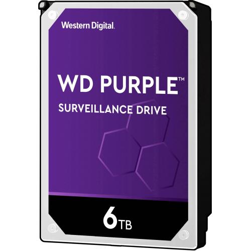 """WD PURPLE WD60PURZ 3,5"""" 6TB, 64mb, 5400 Rpm, 7/24 Güvenlik HDD"""