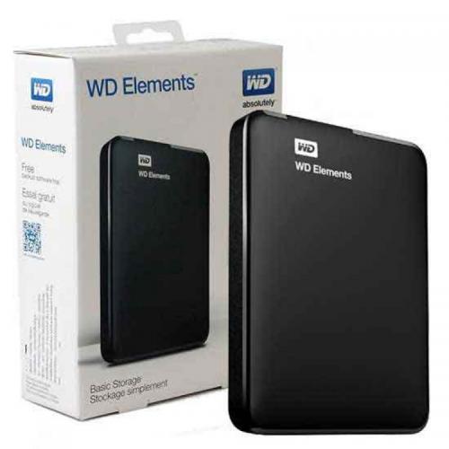"""WD Elements 2TB 2,5"""" USB3,0 (WDBU6Y0020BBK), Harici HDD, Siyah"""