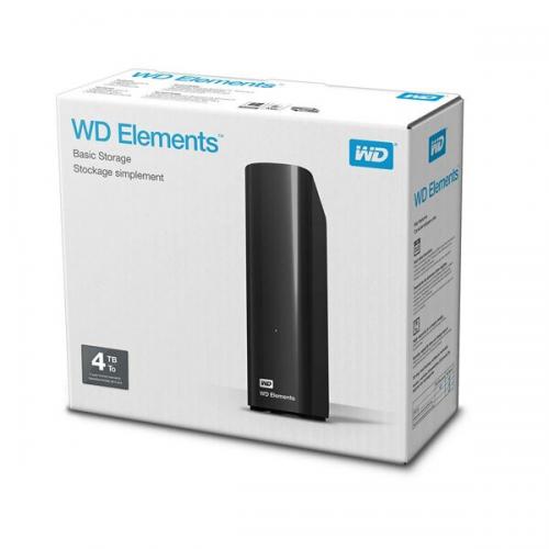 """WD Elements 4TB 3,5"""" USB3,0 (WDBWLG0040HBK), Harici HDD, Siyah"""