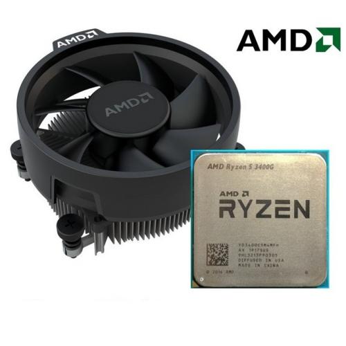 AMD RYZEN 5 3400G 4 Core, 3,70-4.20GHz 65W Radeon RX VEGA11 Wraith Spire FAN AM4 MPK