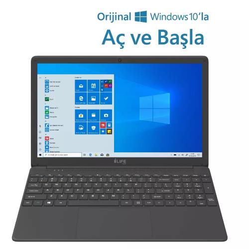 "I-LIFE ZED AIR CX5 Intel i5-5257U 15,6"" FHD, 8Gb Ram, 256 Gb SSD, Paylaşımlı Ekran Kartı, Windows 10 Home Notebook Gümüş"
